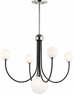 Mitzi H234805-PN-BK Coco Modern Polished Nickel / Black LED Chandelier Light