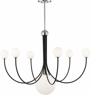 Mitzi H234807-PN-BK Coco Modern Polished Nickel / Black LED Lighting Chandelier