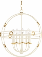 Mitzi H236708-GL-CR Jade Modern Gold Leaf / Cream 24  Hanging Pendant Lighting