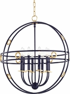 Mitzi H236708-GL-NVY Jade Contemporary Gold Leaf / Navy 24  Hanging Pendant Light