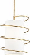 Mitzi H237701L-GL Carly Modern Gold Leaf Pendant Hanging Light