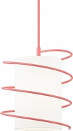 Mitzi H237701L-PK Carly Modern Pink Drop Lighting