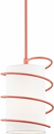 Mitzi H237701S-PK Carly Contemporary Pink Mini Ceiling Pendant Light