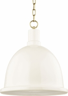 Mitzi H238701L-AGB-CR Blair Modern Aged Brass / Cream Drop Ceiling Light Fixture