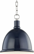 Mitzi H238701S-PN-NVY Blair Contemporary Polished Nickel / Navy Mini Hanging Light