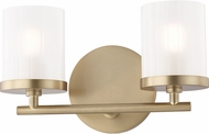 Mitzi H239302-AGB Ryan Modern Aged Brass Xenon 2-Light Bathroom Vanity Lighting