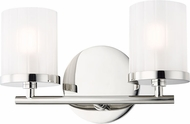 Mitzi H239302-PN Ryan Contemporary Polished Nickel Xenon 2-Light Bathroom Vanity Light