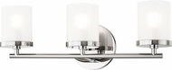 Mitzi H239303-PN Ryan Contemporary Polished Nickel Xenon 3-Light Bath Sconce