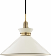 Mitzi H251701L-AGB-CR Kiki Contemporary Aged Brass / Cream 18  Drop Lighting