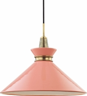 Mitzi H251701L-AGB-PK Kiki Modern Aged Brass / Pink 18  Drop Ceiling Lighting