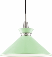 Mitzi H251701L-PN-MNT Kiki Contemporary Polished Nickel / Mint 18  Ceiling Light Pendant