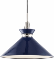 Mitzi H251701L-PN-NVY Kiki Modern Polished Nickel / Navy 18  Ceiling Pendant Light