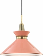Mitzi H251701S-AGB-PK Kiki Modern Aged Brass / Pink 14  Drop Lighting Fixture