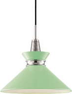 Mitzi H251701S-PN-MNT Kiki Contemporary Polished Nickel / Mint 14  Pendant Lighting