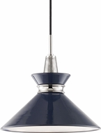 Mitzi H251701S-PN-NVY Kiki Modern Polished Nickel / Navy 14  Pendant Light