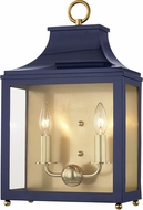 Mitzi H259102-AGB-NVY Leigh Contemporary Aged Brass / Navy Wall Lighting Sconce