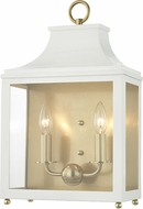 Mitzi H259102-AGB-WH Leigh Contemporary Aged Brass / White Wall Mounted Lamp