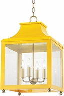 Mitzi H259704L-AGB-MG Leigh Contemporary Aged Brass / Marigold Drop Ceiling Lighting