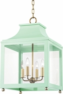 Mitzi H259704L-AGB-MNT Leigh Modern Aged Brass / Mint Ceiling Light Pendant