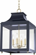 Mitzi H259704L-AGB-NVY Leigh Contemporary Aged Brass / Navy Ceiling Pendant Light