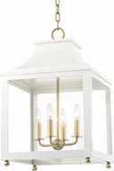 Mitzi H259704L-AGB-WH Leigh Contemporary Aged Brass / White Drop Lighting Fixture