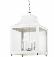 Mitzi H259704L-PN-WH Leigh Modern Polished Nickel / White Hanging Lamp