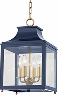 Mitzi H259704S-AGB-NVY Leigh Contemporary Aged Brass / Navy Mini Pendant Lighting Fixture