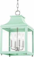 Mitzi H259704S-PN-MNT Leigh Contemporary Polished Nickel / Mint Mini Hanging Light Fixture