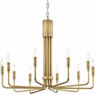 Mitzi H261810-AGB Brigitte Contemporary Aged Brass 32  Hanging Chandelier