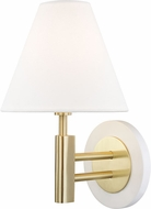 Mitzi H264101-AGB-WH Robbie Contemporary Aged Brass / White Wall Sconce Lighting