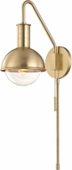 Mitzi HL111101-AGB Riley Contemporary Aged Brass Wall Sconce Lighting
