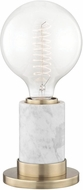Mitzi HL120201-AGB Asime Contemporary Aged Brass Table Lamp