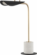 Mitzi HL157201-AGB-BK Layla Contemporary Aged Brass / Black LED Side Table Lamp