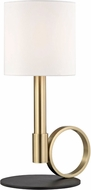 Mitzi HL158201B-AGB-BK Tink Modern Aged Brass / Black Table Top Lamp