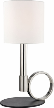 Mitzi HL158201B-PN-BK Tink Contemporary Polished Nickel / Black Side Table Lamp
