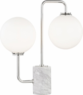 Mitzi HL170201-PN Mia Contemporary Polished Nickel LED Table Top Lamp