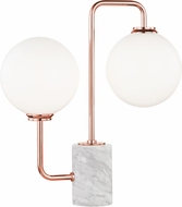 Mitzi HL170201-POC Mia Modern Polished Copper LED Side Table Lamp