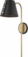 Mitzi HL174201-AGB-BK Meta Contemporary Aged Brass / Black LED Wall Light Sconce