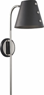 Mitzi HL174201-PN-BK Meta Contemporary Polished Nickel / Black LED Wall Sconce