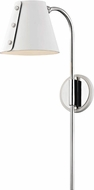Mitzi HL174201-PN-WH Meta Modern Polished Nickel / White LED Wall Lamp