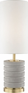 Mitzi HL250201-AGB Iris Contemporary Aged Brass Table Lamp Lighting