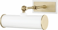 Mitzi HL263201-AGB-WH Holly Modern Aged Brass / White 8  Picture Lighting