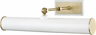Mitzi HL263202-AGB-WH Holly Modern Aged Brass / White 16  Art Lighting Fixture