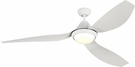 Monte Carlo Fans 3AVMR64RZWD Avvo Max Modern Rubberized White LED 64  Home Ceiling Fan