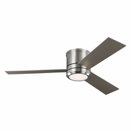 Monte Carlo Fans 3CLMR56BSD Clarity Max Modern Brushed Steel LED Indoor/Outdoor 56  Home Ceiling Fan