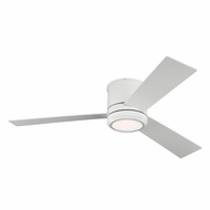 Monte Carlo Fans 3CLMR56RZWD Clarity Max Modern Rubberized White LED Indoor/Outdoor 56  Home Ceiling Fan