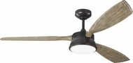 Monte Carlo Fans 3DSTR57AGPD Destin Aged Pewter LED 57  Ceiling Fan
