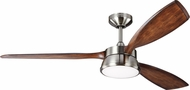 Monte Carlo Fans 3DSTR57BSD Destin Brushed Steel LED 57  Home Ceiling Fan
