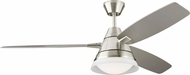 Monte Carlo Fans 3NDR54BSD Nord Modern Brushed Steel LED 54  Ceiling Fan