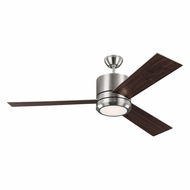 Monte Carlo Fans 3VNMR56BSD Vision Max Contemporary Brushed Steel LED Indoor/Outdoor 56  Home Ceiling Fan